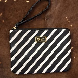 Betsy Johnson Black and White Wristlet